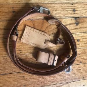 Authentic Keepall strap, nametag and poignee